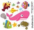 Sea Creatures - stock vector