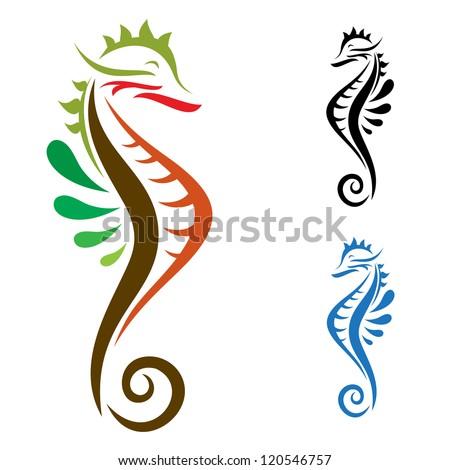 Sea Horse ,vector ilisturation image - stock vector