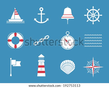 Sea Icons - stock vector
