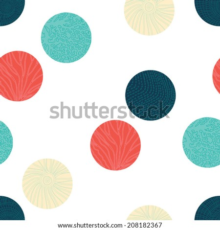 Sea polka dot.  Seamless pattern can be used for wallpaper, pattern fills, web page background, surface textures. - stock vector