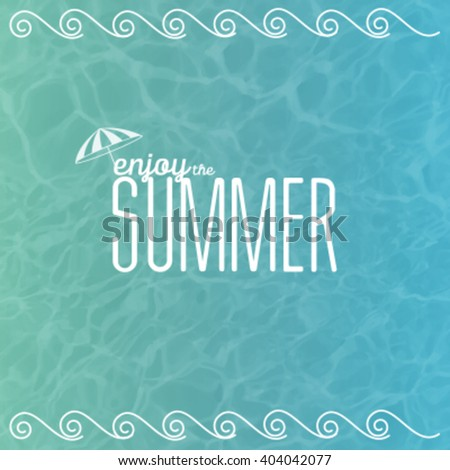 Sea vector background calm and clear. Summer concept. - stock vector