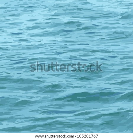 Sea water surface  texture, vector marine background - stock vector