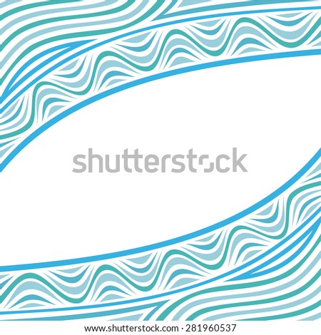Sea wave nature pattern background vector illustration - stock vector