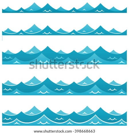 sea wave, ocean waves, sea pattern, water - stock vector