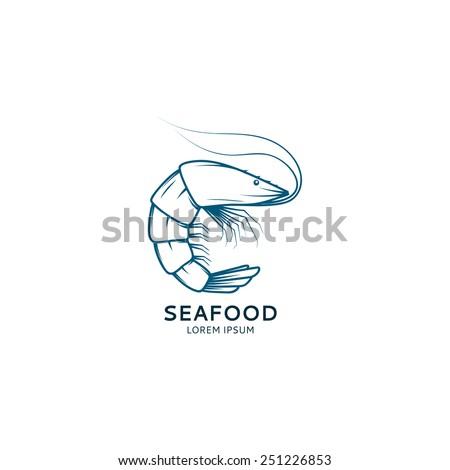 Shrimp Logo Vector Vector Shrimp Sketch For Your