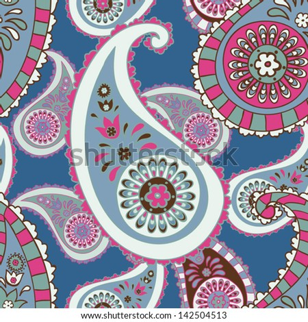 sealess paisley background - stock vector