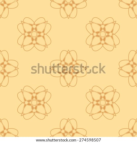 Seamless abstract background. Abstract frame with flowers. Pyrography flowers. - stock vector