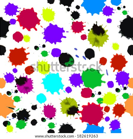seamless abstract background of round spots. Vector - stock vector