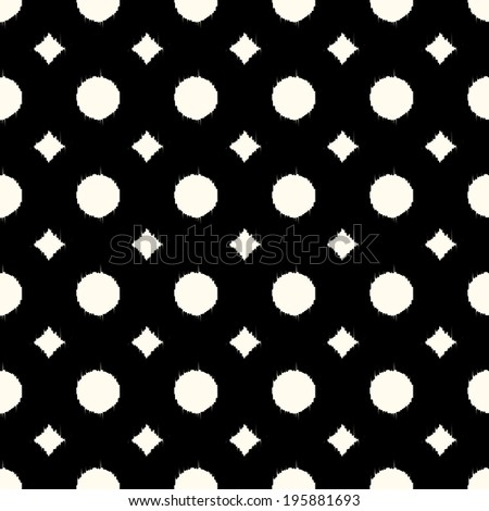 seamless abstract black and white geometric pattern - stock vector