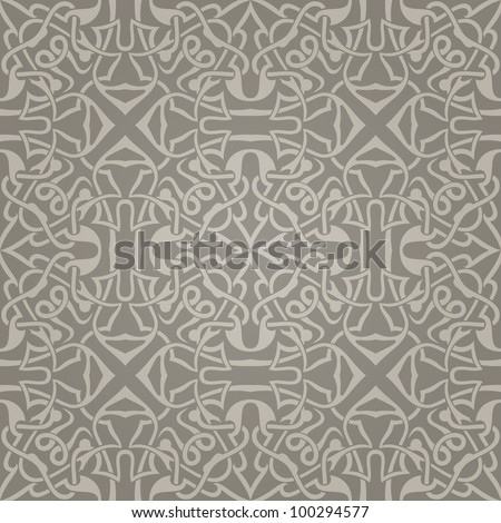 Seamless abstract brown pattern with gradient. Vector illustration - stock vector