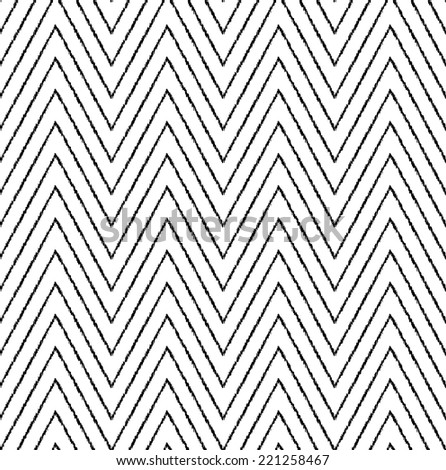 seamless abstract chevron stripes pattern - stock vector