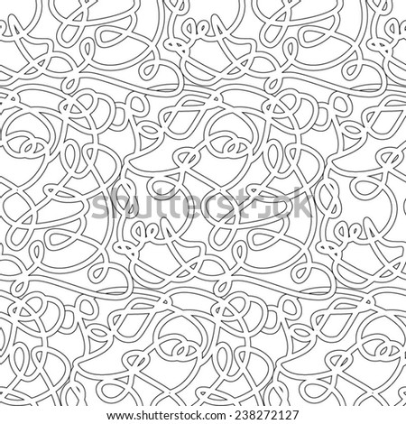 seamless abstract complex maze, labyrinth path - stock vector