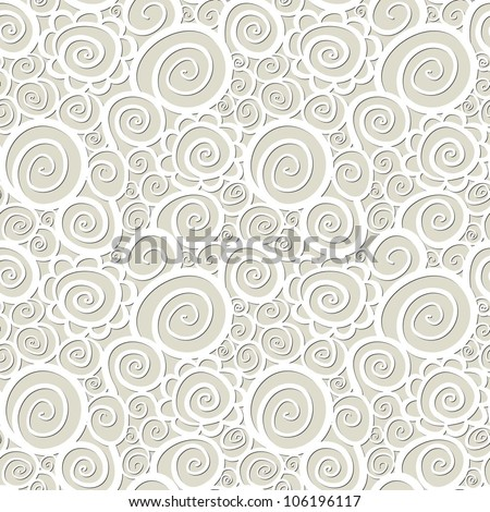 Seamless abstract curly wave pattern-model for design of gift packs, patterns fabric, wallpaper, web sites, etc. - stock vector