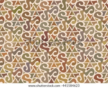 Seamless abstract floral interesting pattern. Can be used for wallpaper, pattern fills, greeting cards, webpage backgrounds, wrapping paper or fabric. Vector illustration. - stock vector