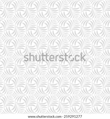 Seamless abstract floral pattern. Vector gray and white background - stock vector