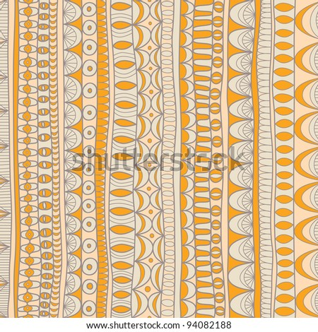 seamless abstract hand-drawn pattern - stock vector