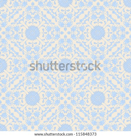Seamless abstract hand-drawn pattern. Seamless pattern can be used for wallpaper, pattern fills, web page background,surface textures. Abstract seamless floral background - stock vector