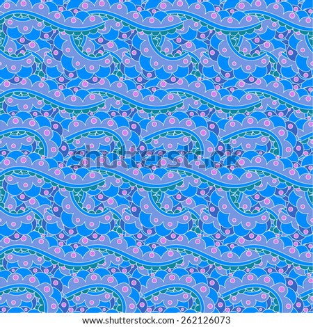 Seamless abstract hand-drawn waves pattern, wavy background. Seamless pattern can be used for wallpaper, pattern fills, web page background,surface textures. - stock vector