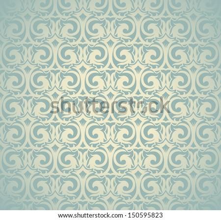 Seamless abstract ornamental wallpaper  - stock vector