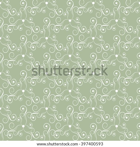 Seamless abstract pattern. Elegant ornate texture in baroque style. Vector illustration. Can be used for wallpaper, textiles, wrapping paper, page fill, design, web page, background. - stock vector