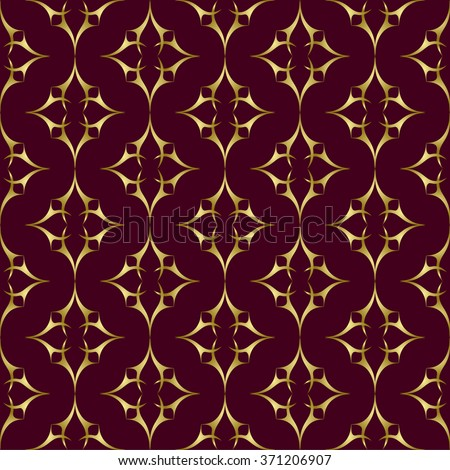 Seamless abstract pattern. Elegant ornate texture in damask style. Vector illustration. Can be used for wallpaper, textiles, wrapping paper, page fill, design, web page, background. - stock vector