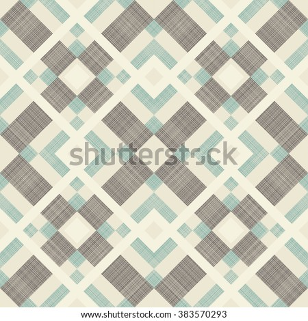 seamless abstract pattern in turquoise, brown and beige  - stock vector