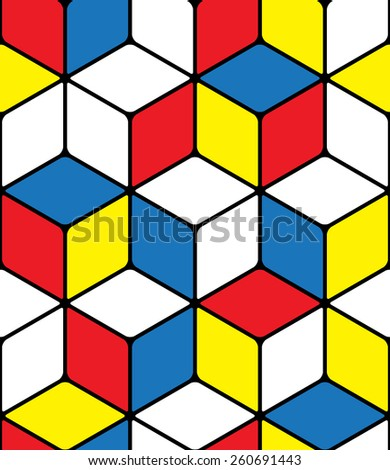 Seamless abstract pattern made from color squares - stock vector