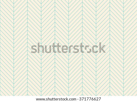 Seamless abstract pattern of classic zigzag. Turquoise line on a beige background. Vector Illustration - stock vector