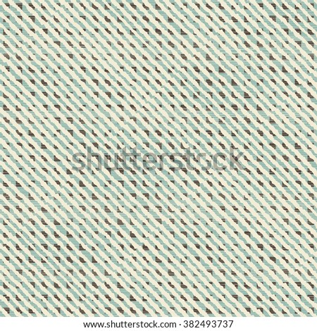 seamless abstract pattern on texture background in turquoise, brown and beige - stock vector