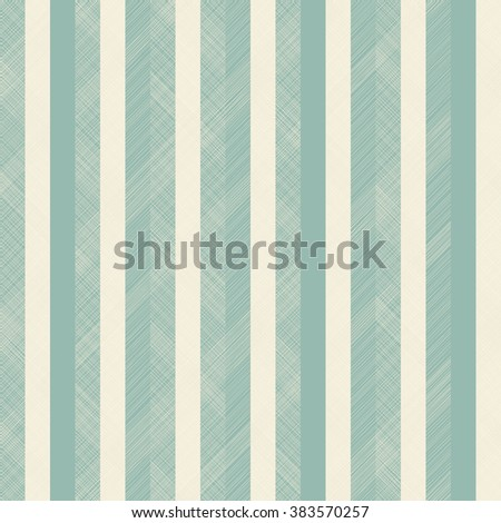 seamless abstract pattern with  beige and turquoise stripes on texture background - stock vector