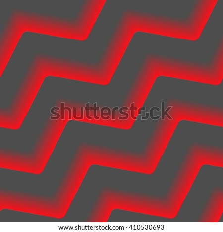 Seamless abstract pattern with fire red lines on black - stock vector