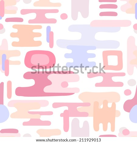 Seamless Abstract Pink Pattern / Vector geometric ornaments with pink tints shapes in eps 8 - stock vector