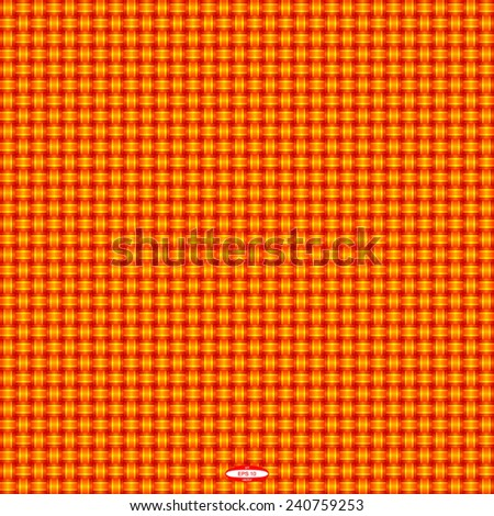seamless abstract red pattern orange texture with yellow line wicker red background vector - stock vector