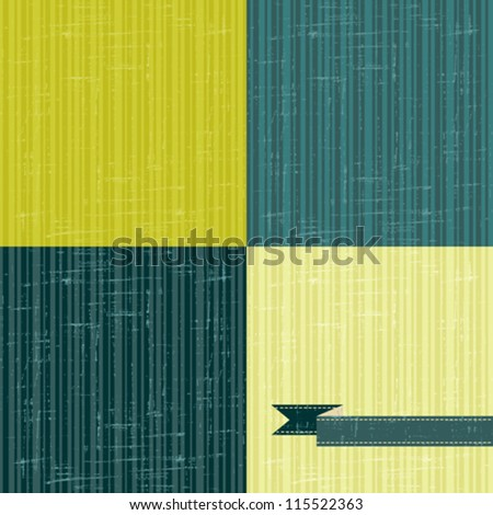 Seamless abstract retro pattern. Stylish grunge background. - stock vector