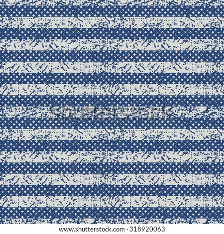 seamless abstract striped pattern in blue and beige  - stock vector