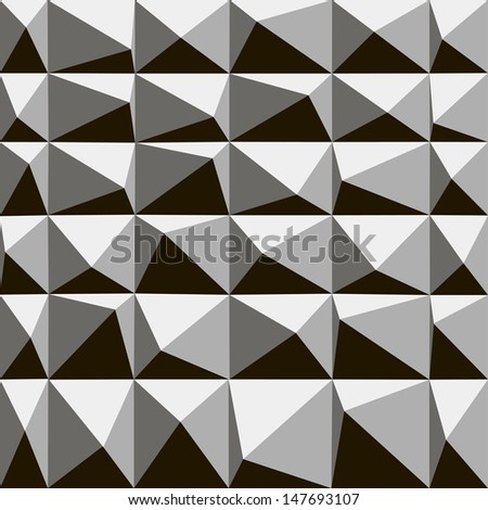 Seamless abstract vector pattern - repeat geometric triangle - stock vector