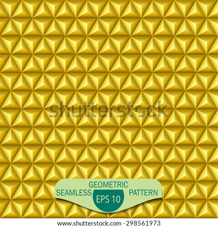 Seamless abstract vector pattern. Repeated volumetric geometric mosaic. - stock vector