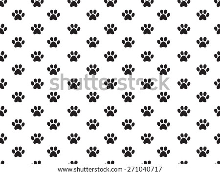 seamless animal footprint pattern - stock vector