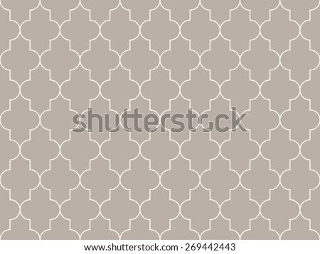 Seamless anthracite gray moroccan pattern vector - stock vector