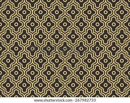 Seamless antique palette enhanced Moroccan pattern vector - stock vector