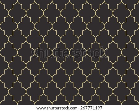 Seamless antique palette Moroccan pattern vector - stock vector