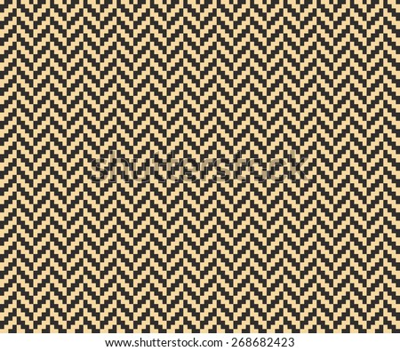 Seamless antique palette vintage pixel herringbone pattern vector - stock vector
