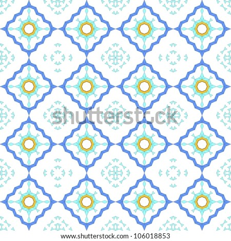Seamless Arabic Style Design Background - stock vector