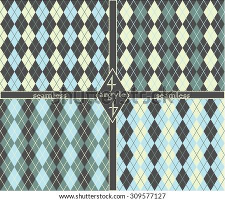 Seamless argyle pattern - stock vector