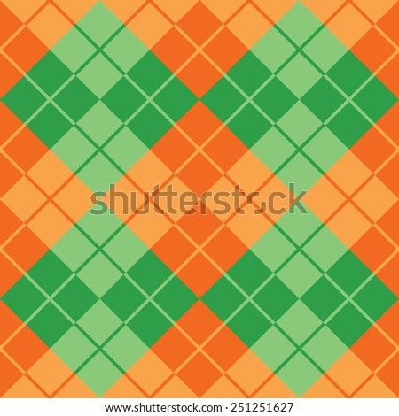 Seamless argyle pattern in contrasting colors. - stock vector