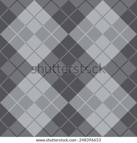 Seamless argyle pattern in grey. - stock vector