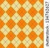 Seamless Argyle Sweater Background - stock vector