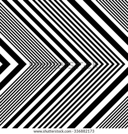 Seamless Arrow Pattern. Abstract Monochrome Background. Vector Regular Texture - stock vector
