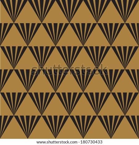 Seamless Art Deco background texture pattern - stock vector
