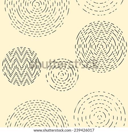 Seamless art vector circle texture geometric pattern background - stock vector